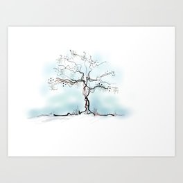 Sketch of Tree Art Print