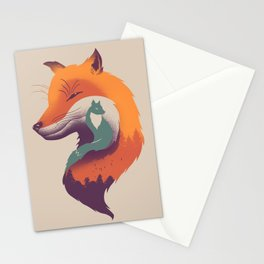 Foxy Breeze Stationery Cards