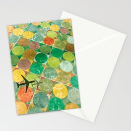 Bird's Eye View: Red and Gold Stationery Cards