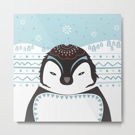 Messer Pinguino Metal Print