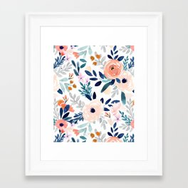 Jolene Floral Framed Art Print