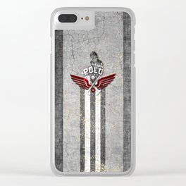 poloplayer grey Clear iPhone Case