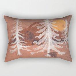 Bear's Solitude... Rectangular Pillow