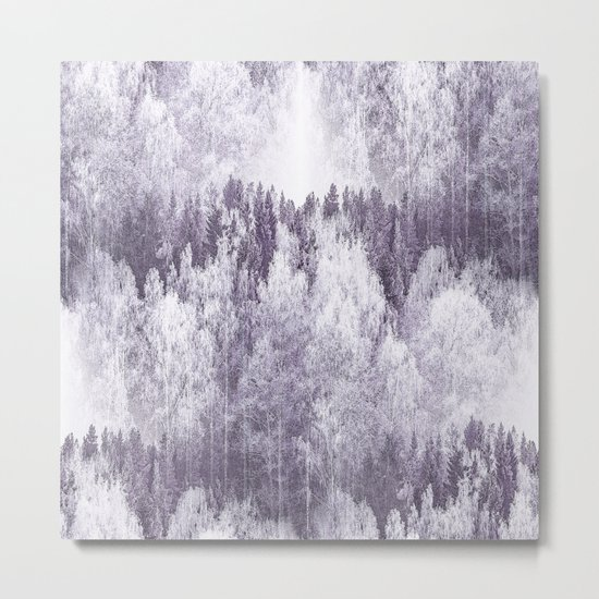 Captivating landscape - beautiful forest in winter colors Metal Print