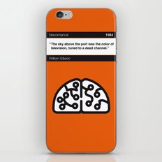 No030 MY Neuromancer Book Icon poster iPhone & iPod Skin