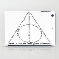 deathly hallows iPad Cases featuring Deathly Hallows by delavie