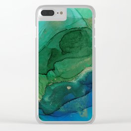Ocean gold Clear iPhone Case