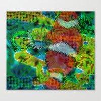 scuba Canvas Prints featuring Scuba by DARWIN STEAD