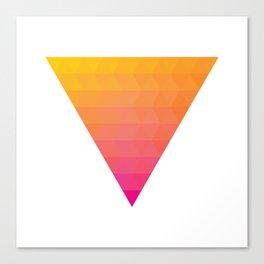 Orange Magenta Triangle Gradient Canvas Print