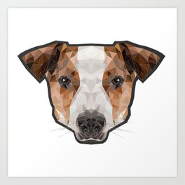 Jack Russell poly Art Print