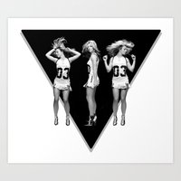 britney Art Prints featuring Britney Dancing by eriicms