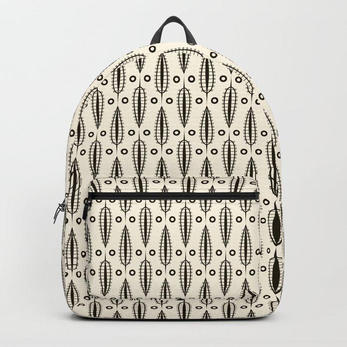 "Art Deco . ""Delicate leaves "". Backpack"