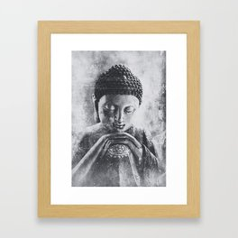 Buddha Grunge Framed Art Print