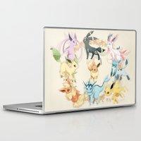 eevee Laptop & iPad Skins featuring Eeveelutions by Stephanie Lee