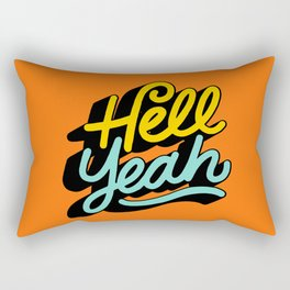 hell yeah 004 x typography Rectangular Pillow