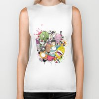 doodle Biker Tanks featuring Doodle by Flavio Augusto Maidl