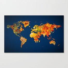 World Map 41 Canvas Print