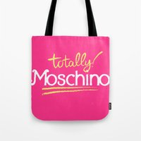 moschino Tote Bags featuring Totally Moschino by RickyRicardo787