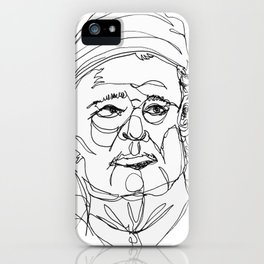 bill murray's one liners (black) iPhone Case