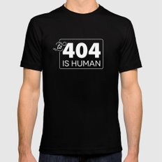 To 404 Is Human Mens Fitted Tee MEDIUM Black
