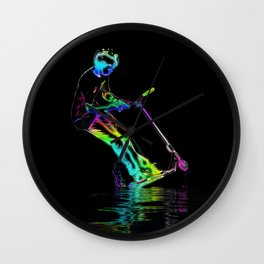 Puddle Jumping - Scooter Boy Wall Clock