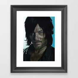Daryl Dixon Digital Painting Framed Art Print