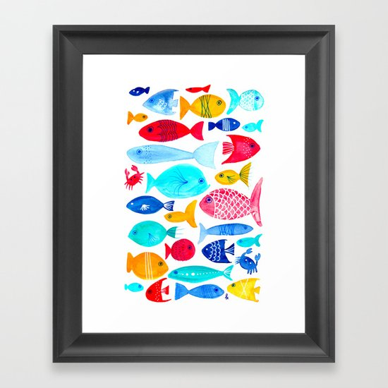 Fish Pattern - Ocean - Nautical - Sea - Swim - Crabs - Summer by patricehorvath