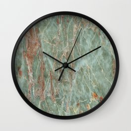 Sage and Rust Marble Wall Clock