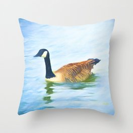 Lone Canada Goose Throw Pillow