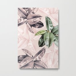 Tropical Leaves Photography Metal Print