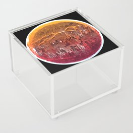 Firefighter Below the Sea of Smog Acrylic Box