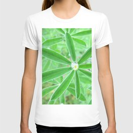 Watercolor Forb, Lupine Leaf 02, Dalvik, Iceland T-shirt