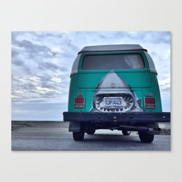 shark bus Canvas Print