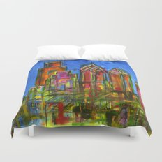 Philly Neon Skyline Duvet Cover