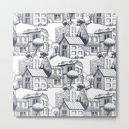 City pattern Metal Print