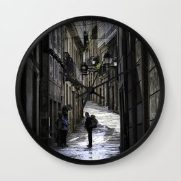 Pilgrim in Santiago de Compostela; after the walk Wall Clock