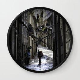 Pilgrim in Santiago de Compostela; after the walk Wall Clock