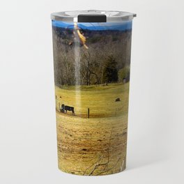 Cattle ranch overlooking the Blue Ridge Mountains Travel Mug