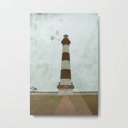 Bodie Lighthouse Glass Plate Effects Coastal Landscape Photograph Metal Print