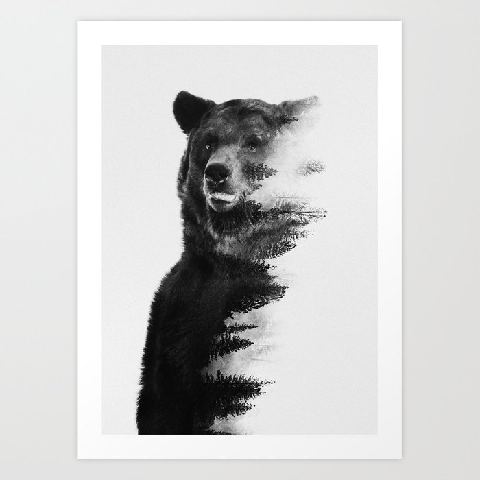 Discover the motif OBSERVING BEAR by Andreas Lie as a print at TOPPOSTER