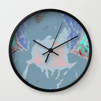 halo Wall Clocks featuring Halo by Mylittleradical