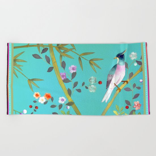 chinois 1731: turquoise  Beach Towel