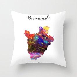 Burundi Quote Art Design Inspirational Motivation Throw Pillow