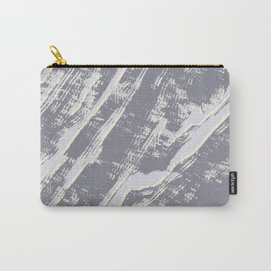 shades of gray marble effect Carry-All Pouch