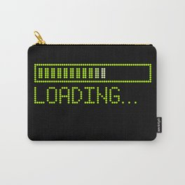 Green Loading Time Bar Carry-All Pouch