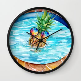 Chilling Pineapple Wall Clock