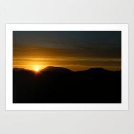 A Beaver Sunset Art Print