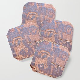 Native Indian Rock Art Coaster