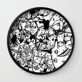 Imaginary Noir Characters Wall Clock
