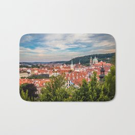 Prague from Petrin Hill Bath Mat